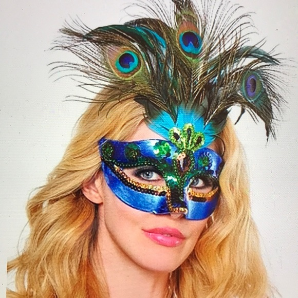 Peacock Feather Mask